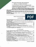 Byzantinische Zeitschrift Jahrgang 47 (1954)