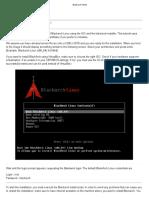 BlackArch VirtualBox Install