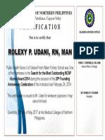 Certification Mr. Udani