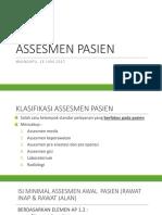 Assesmen Pasien (Materi Studi Banding)