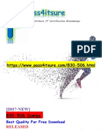 New Pass4itsure 830-506 Dumps PDF - Cisco Leading Virtual Classroom Instruction Practical Exam