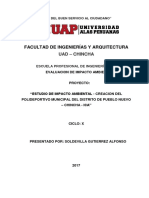 e.i.a Creacion Del Polideportivo Municipal-pueblo Nuevo