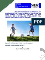 Proyecto Escuela de Futbol Del Civg 2016-2017
