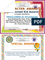 Character and Special Award