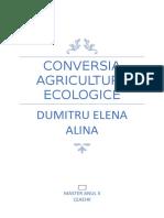 Conversia agriculturii ecologice