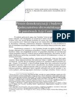 Proces demokratyzacji i budowy społeczeństwa obywatelskiego w państwach Azji Centralnej [The Process of Democratization and Development of Sivil Society in the Countries of Central Asia]