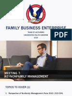 PPT 7 Keynonfamily Management