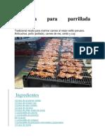 Receta de Marinada Para Parrillada Peruana