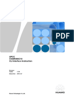 UPCC V300R006C10 CLI Interface Instruction