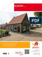 Brochure Patrimoniumstraat 1, Leerdam