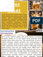 Beer Plant Manufacturing Plant, Detailed Project Report, Profile, Business Plan, Industry Trends, Market Research, Survey, Manufacturing Process, Machinery, Raw Materials, Feasibility Study, Investment Opportunities, Cost and Revenue, Plant Economics, Production Schedule, Working Capital Requirement, Plant Layout, Process Flow Sheet, Cost of Project, Projected Balance Sheets, Profitability Ratios, Break Even Analysis