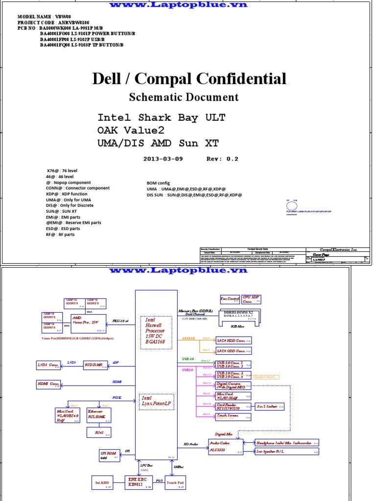 Dell 153537 Laptop Schematics (2) | Digital & Social Media | Digital