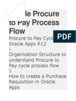 Oracle Procure to Pay Process Flow