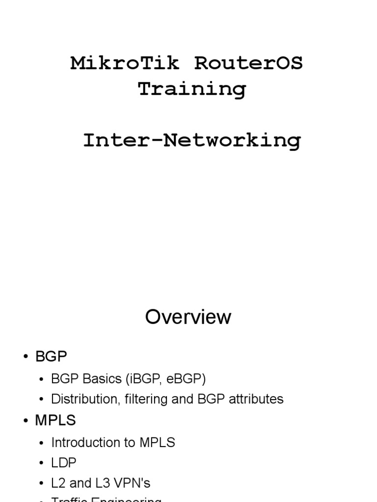 MTCINE_Training_Material pdf | Multiprotocol Label Switching | Routing