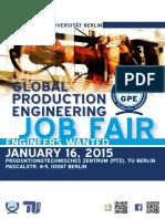 GPE Booklet Job Fair