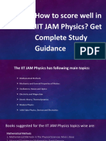 How to score well in IIT JAM Physics? Get Complete Study Guidance