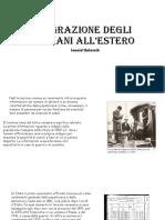 Emigrazione Degli Italiani All'Estero