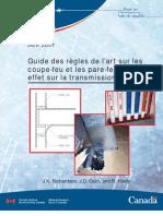 Guide Des Règles de l'Art Sur Les Coupe-feu Et Les Pare-feu Et Leur Effet Sur La Transmission Acoustique