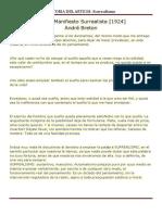Resumen Manifiesto Surrealista André Breton