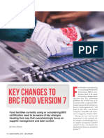 Key Changes in BRC Food v-7