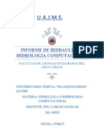 Informe de Hidraulica Computacional