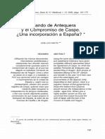Fernando de Antequera y El Compromiso de Caspe