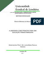 A Liberdade Com Principio Para Uma Educação Transformadora2015_-_ARAUJO_Renata_Miranda