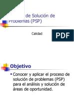 Proceso de Solución de Problemas -PSP