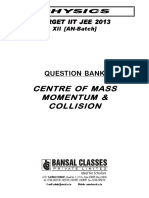 Centre of Mass Momentum & Collision_QB_AN-Batch_Eng_WA