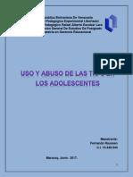 Uso y Abuso de Las Tic's en Los Adolescentes