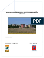 How does the European Regional Development Fund finance energy efficiency and renewable investments in housing sector in Bulgaria, Poland and Romania? - November 2009