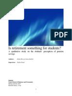 Retirement for Students (Management Project)