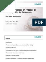 Mejores Prácticas en Procesos de Investigación de Denuncias. Siemens
