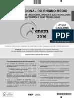 Prova do ENEM 2016 -2º dia (MATEMÁTICA )