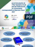 1. Presentacion Lineamientos Poa 2017 Universidades