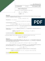 Corrección Examen Final Cálculo III (Ecuaciones Diferenciales) 28 de junio de 2017