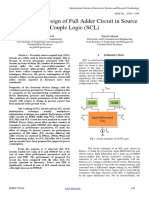 Analysis and Design of Full Adder Circuit in Source Couple Logic (SCL)