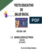 Proyecto de Salud Bucal I.E. M.G.P