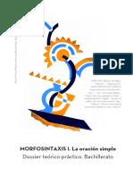 Dossier Morfosintaxis Bachillerato. La oración simple.pdf