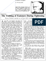 The yielding of fasteners duirng tightening.pdf