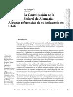60 Años de La Constitución de La República Federal de Alemania. Influencias en Chile