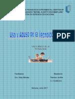 Uso y Abuso de La Tecnología Digital por la Prof. Jeniffer Ramírez