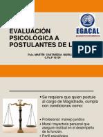 Evaluación Psicológica a Postulantes de La Cnm