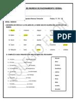 Examen Inicial de Razonamiento Verbal - Básico