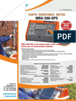 Earth Resistance and Resistivity Meters
