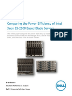 Comparing the Power Efficiency of Intel Xeon E5-2600 Based Blade Servers