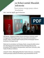 Fujitsu Punya Solusi Untuk Masalah Kesehatan Indonesia