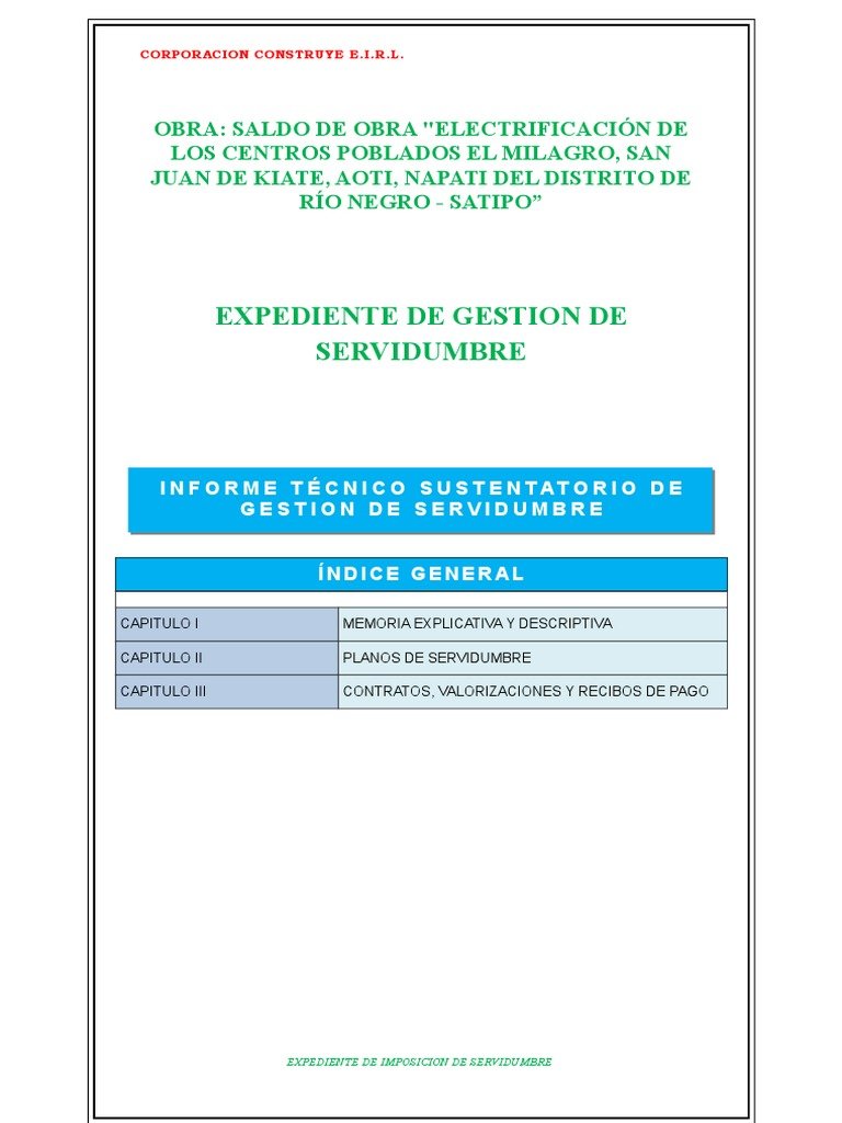 Expediente de Imposición de servidumbre de lineas eléctricas en la ...