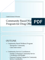 Community Based Wellness Program for Drug Offenders