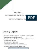 Unidad 3 Clases , Objetos e intancias